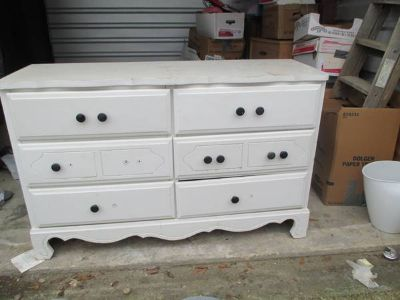 wood 6 drawer dresser