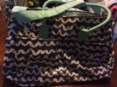 Target diaper bag with changing pad