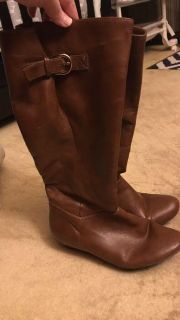 Brown leather boots size 8.5