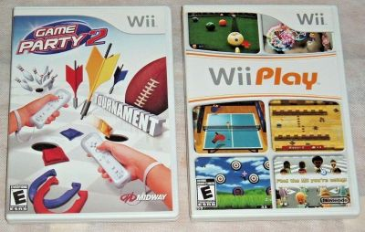 Nintendo Game Lot Wii Play Game Party 2 Wii & Wii U Consoles