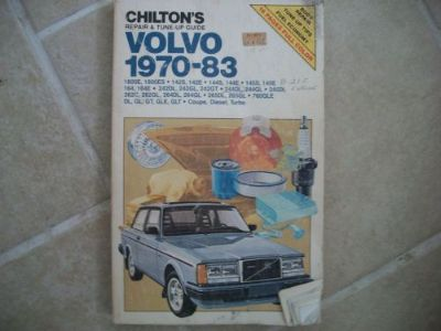 Find Volvo - CAR REPAIR MANUAL - 1970-83 Chilton 7040 COUPE, DIESEL, TURBO motorcycle in Golden Valley, Arizona, United States, for US $6.60