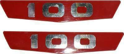 Sell Red Hood Emblem Insert Set 1963 1964 Ford Pickup Truck motorcycle in Oklahoma City, Oklahoma, US, for US $19.00