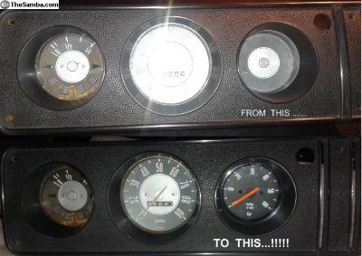 New BUS (1968-1979) Tachometer - BLACK
