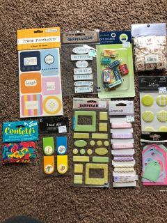 Assorted scrapbook lot1 $10 for all