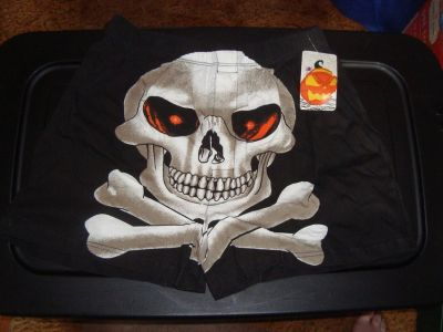 NEW Sz L Big SKELETON Themed Boxer Shorts Underwear Costume