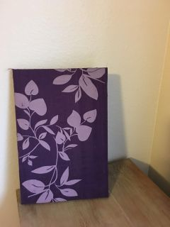 Small Purple Flower Fabric Picture