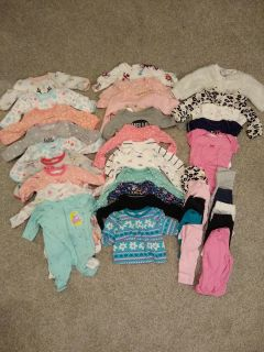Baby girls Newborn fall/winter clothes lot