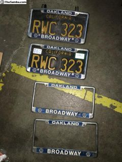 Trade or Sell Downtown Oakland Plate Frames
