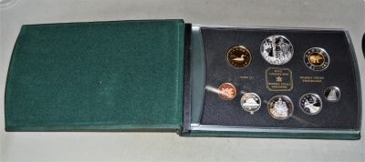 2002 Sterling Silver Proof Set - With QE II Accession Jubilee Dollar