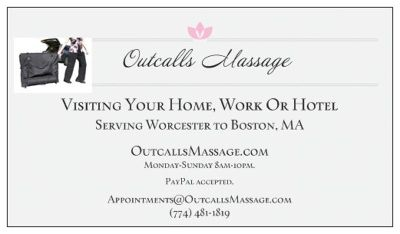 Outcalls Massage: Visiting Your Home, Work Or Hotel