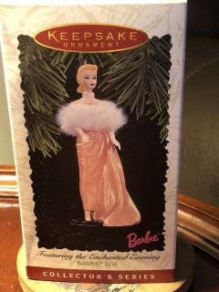 Hallmark keepsake ornament and chanted evening Barbie doll