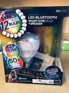 Bluetooth smart sync bulb and speaker