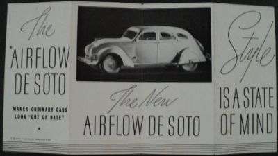 Find 1934 DeSoto Chrysler Sales Brochure New Airflow De Soto motorcycle in Holts Summit, Missouri, United States, for US $64.34