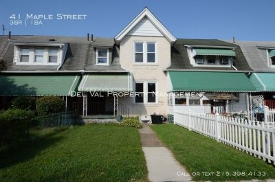 3-Bedroom Row Home For Rent - 41 Maple Street - Available Now!
