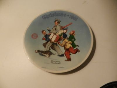 Norman Rockwell 1991 Christmas Plate