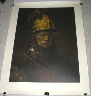 "Rembrandt ""Man in a Golden Helmet"" Litho Print - Embossed Seal - Printed in Germany"