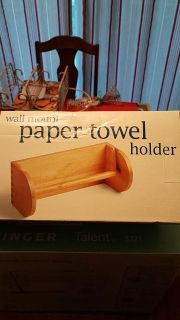 Bath and body paper towel holder