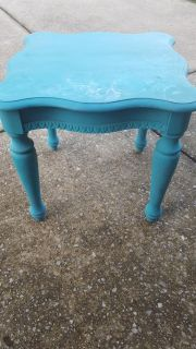Turquoise end table. Perfect piece for project!