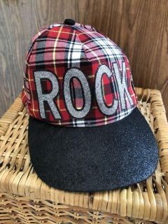 JUSTICE Rock hat for Girl s. One Size Fits all Tween Girls. Adjustable Band. Great Condition!