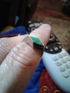 VINTAGE AUTHENTIC Green Turquoise Ring EUC Size 6