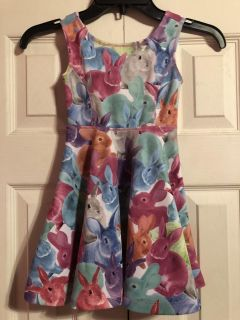 Guc Children Place Rabbits Easter Dress Size XS/4 $4.00