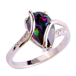 New - Rainbow Topaz Ring - Sizes 6, 7, 8 and 9