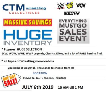 WWE Huge inventory figd / Memorabilia one day sale (everything must go !!)