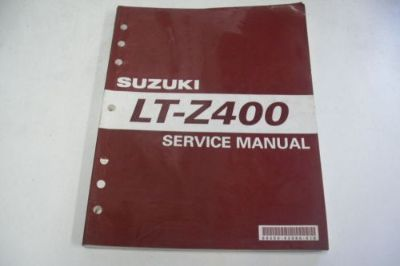 Purchase SUZUKI ATV DEALER TECHNICAL SHOP SERVICE MANUAL LT-Z400 QUADSPORT motorcycle in Sunbury, Pennsylvania, United States, for US $59.95