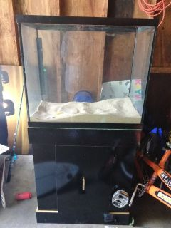20 gallon aquarium and stand