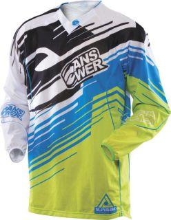 Buy Answer Alpha Air Blue Medium Dirt Bike Motocross Jersey Race Ready MX ATV Md motorcycle in Ashton, Illinois, US, for US $50.36