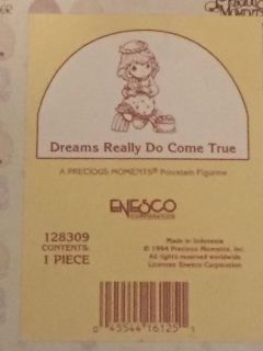 Precious moments figurine dreams really do come true item number 128309