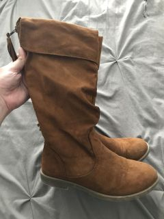 GUC girls suede boots - size 3