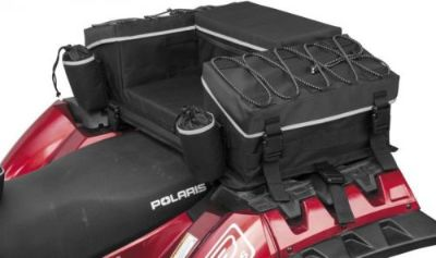 Purchase QuadBoss Reflective Series Rear Rack Bag Black (QB3-001) motorcycle in Holland, Michigan, United States, for US $173.34