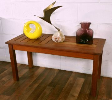 Handsome Solid Teak Danish Mid Century Bench