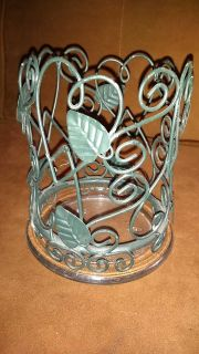 Candle holder 6 in tall with plate