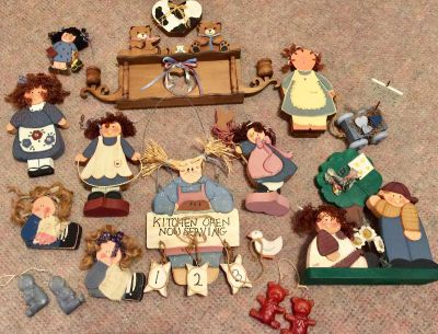 Lot of hand painted Children's Wood Characters