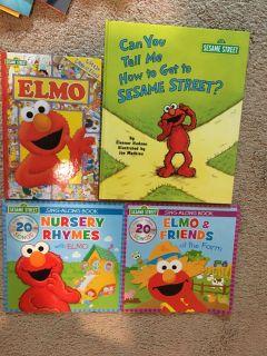 Elmo book lot