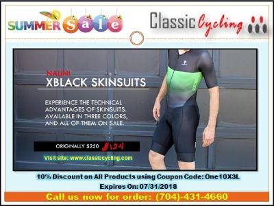 2018 Super Saving Sale | 50% Discount on Nalini XBlack Body Skin Suits