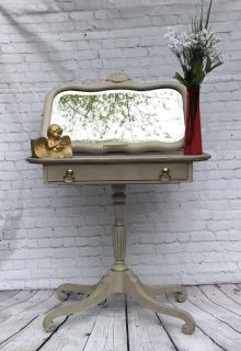 Vintage Hall Table and Mirror Duo