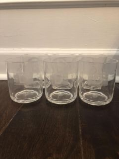 Set of 6 outdoor plastic rocks cups. Pottery Barn. $10 Have initial D on them. Gtown Pickup