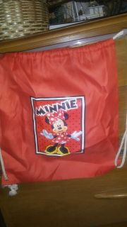 Minnie mouse drawstring nylon bag