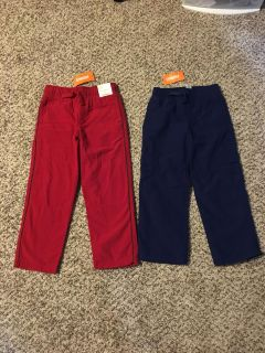 Gymboree Fleece Lined Pants. Red & Navy Blue. Size 5/5t. Brand New with Tags.