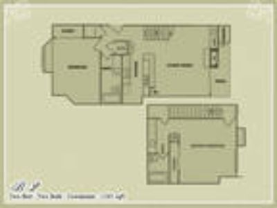Meadow Green Apartments - Plan B2 - Two BR Two BA