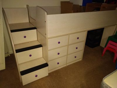 Twin trundle bunk beds with drawers