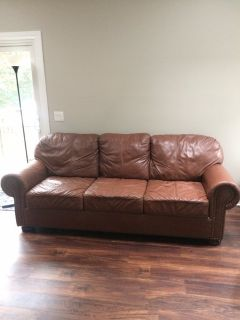 100% Top Grain Leather Couch