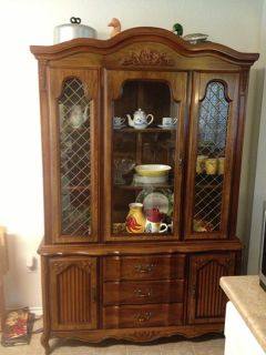 $150, Two piece China cabinet  buffet