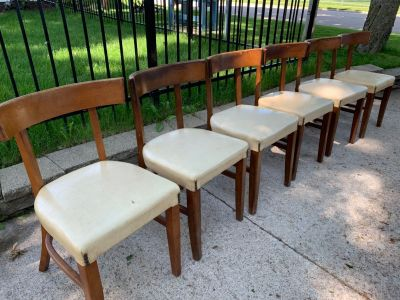 Mid Century Bianco set of 6 dining chairs