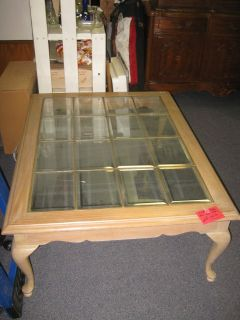 NICE LEAD GLASS COFFEE TABLE REDUCED !!