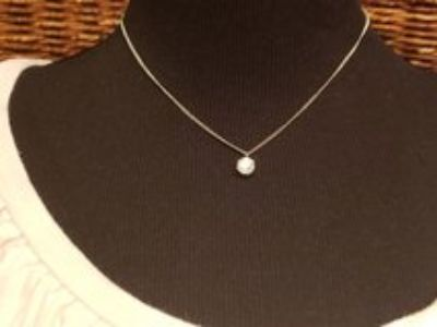 CZ Diamond Pendant Necklace