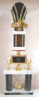 "Sell Bike Show Trophy - 23"" Double Column Trophy - Free Engraving motorcycle in Fullerton, California, US, for US $23.99"